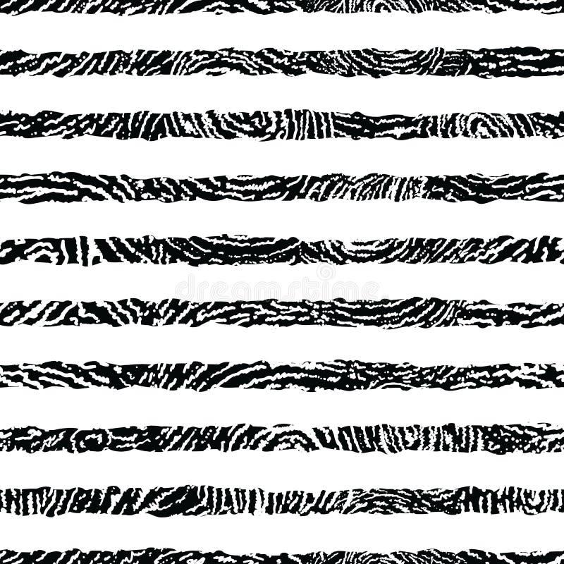 Nahtloses Muster der strukturierten Schwarzweiss-Streifen vektor abbildung