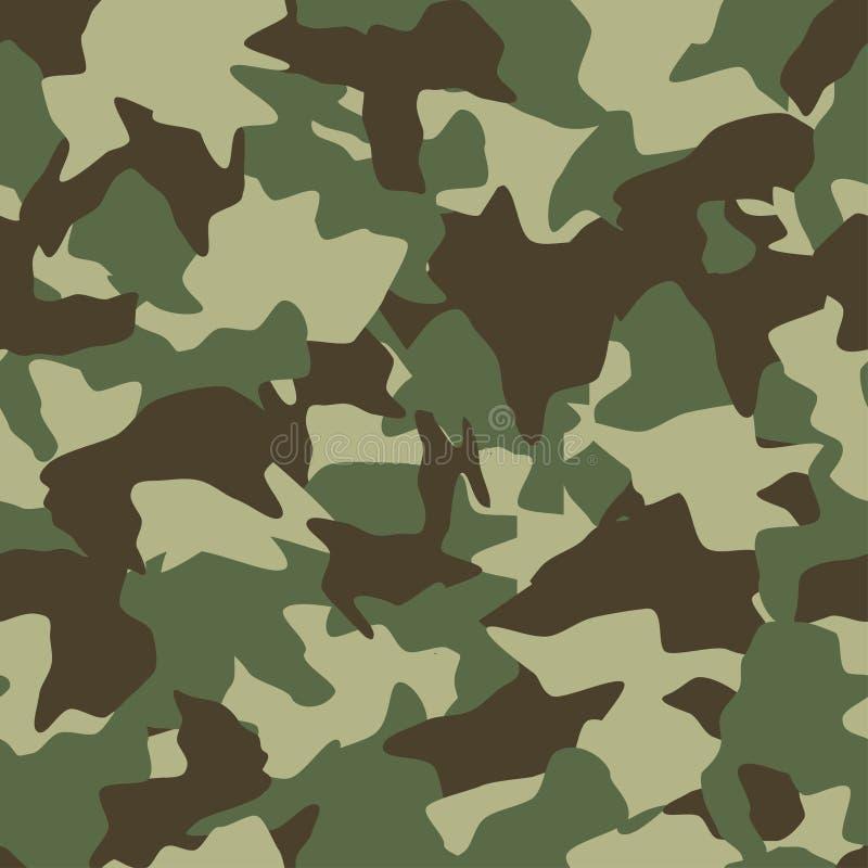 Nahtloses Muster der Tarnung Grün, braun, färbt Olive Waldbeschaffenheit lizenzfreie abbildung