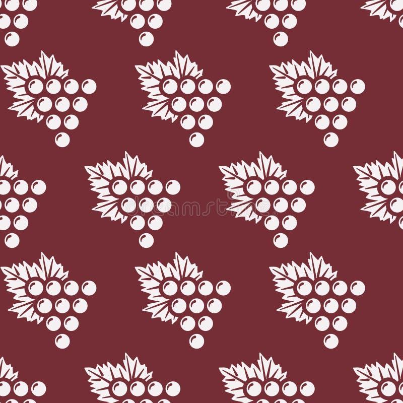 Nahtloses Muster der Trauben stock abbildung
