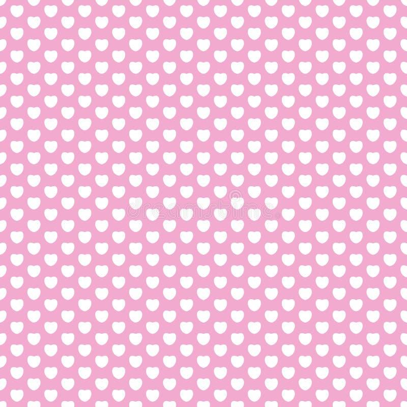 Nahtloses Muster der Valentinsgruß ` s Tagesherzen stock abbildung