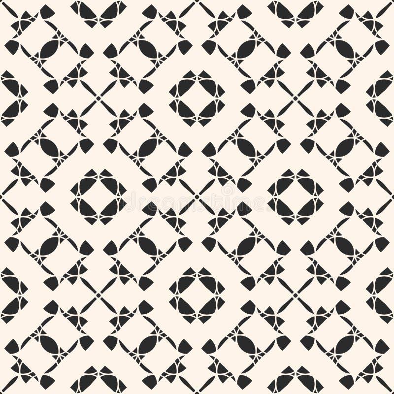 Nahtloses Muster der Vektorverzierung Geometrischer Hintergrund der Schwarzweiss-Wiederholung stock abbildung