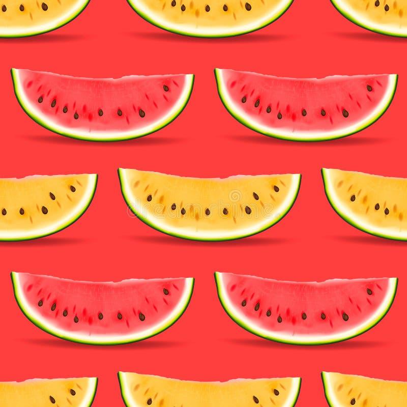 Nahtloses Muster der Wassermelone lizenzfreie abbildung