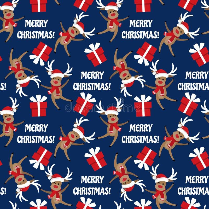 Nahtloses Muster der Weihnachtsferienzeit lizenzfreie abbildung