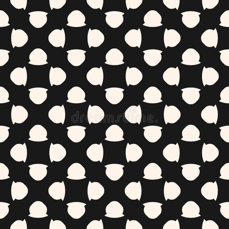 Nahtloses Muster der Weinlese mit den einfachen geometrischen Zahlen, mit Blumen vektor abbildung