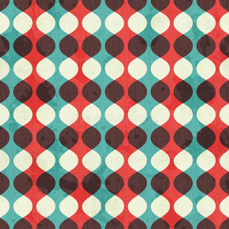 Nahtloses Muster der Weinlese mit Schmutzeffekt stock abbildung