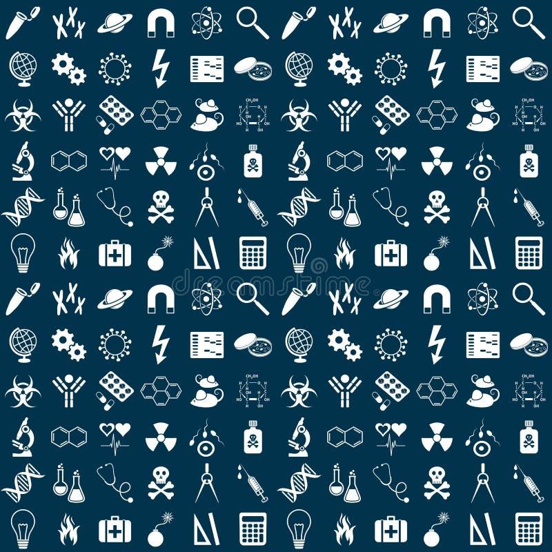 Nahtloses Muster der Wissenschaft stock abbildung