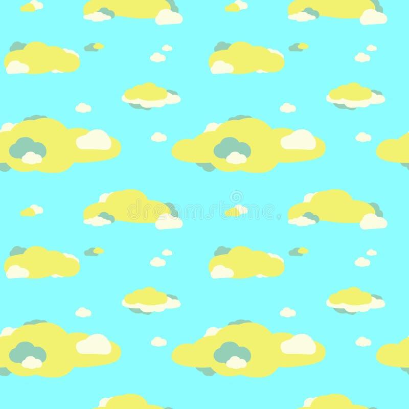Nahtloses Muster der Wolken stockbilder