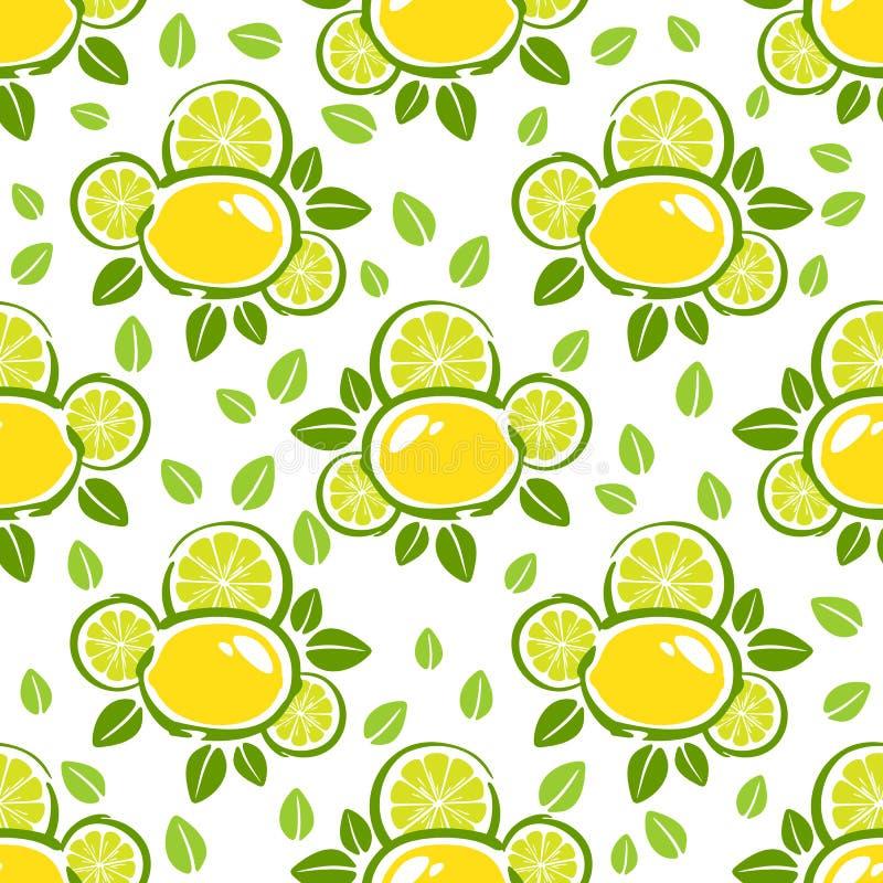Nahtloses Muster der Zitrone vektor abbildung