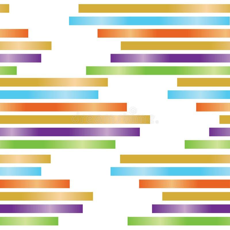 Nahtloses Muster der Zusammenfassungsrechtecke auf weißem Hintergrund stock abbildung