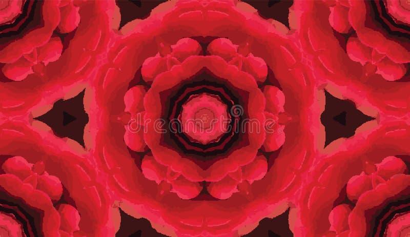Nahtloses Muster des abstrakten bunten Kaleidoskops Geometrischer Blumenvektorhintergrund Grafisches Muster Mosaik azulejo Mandal lizenzfreie abbildung