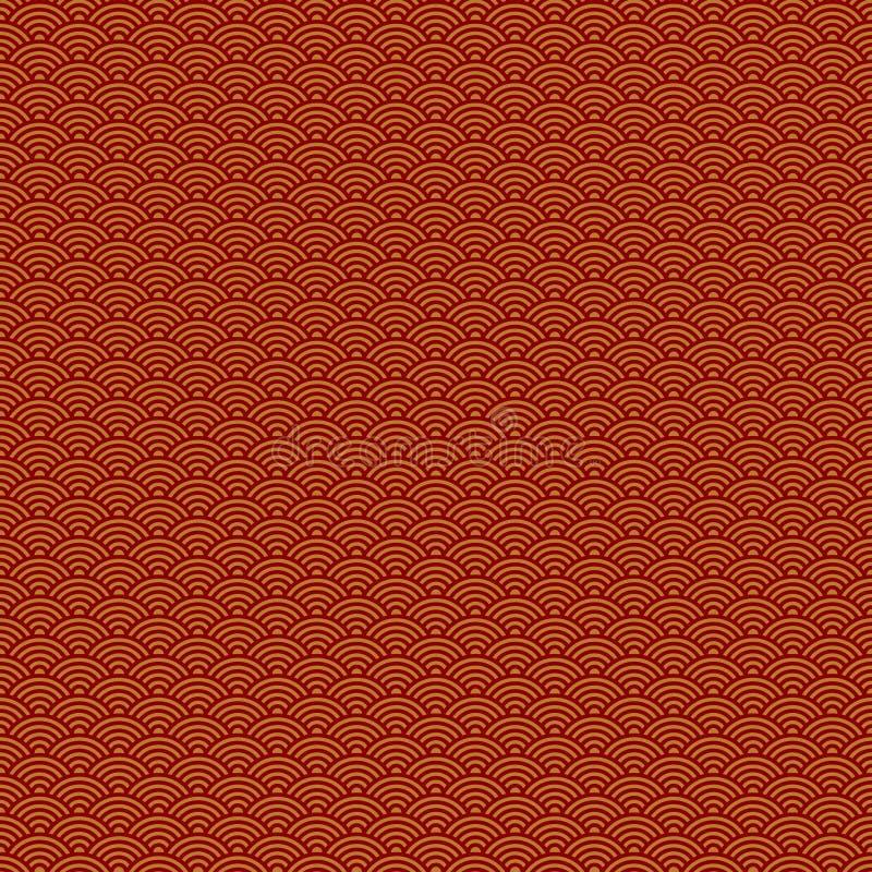 Nahtloses Muster des abstrakten Chinesischen Neujahrsfests lizenzfreie abbildung