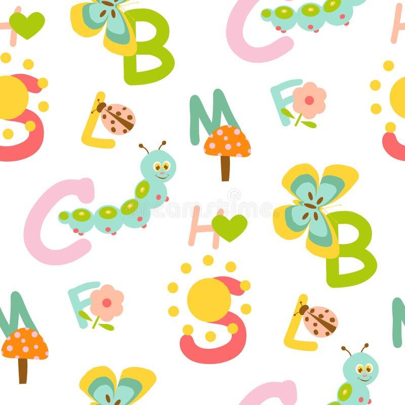 Nahtloses Muster des Alphabetes vektor abbildung