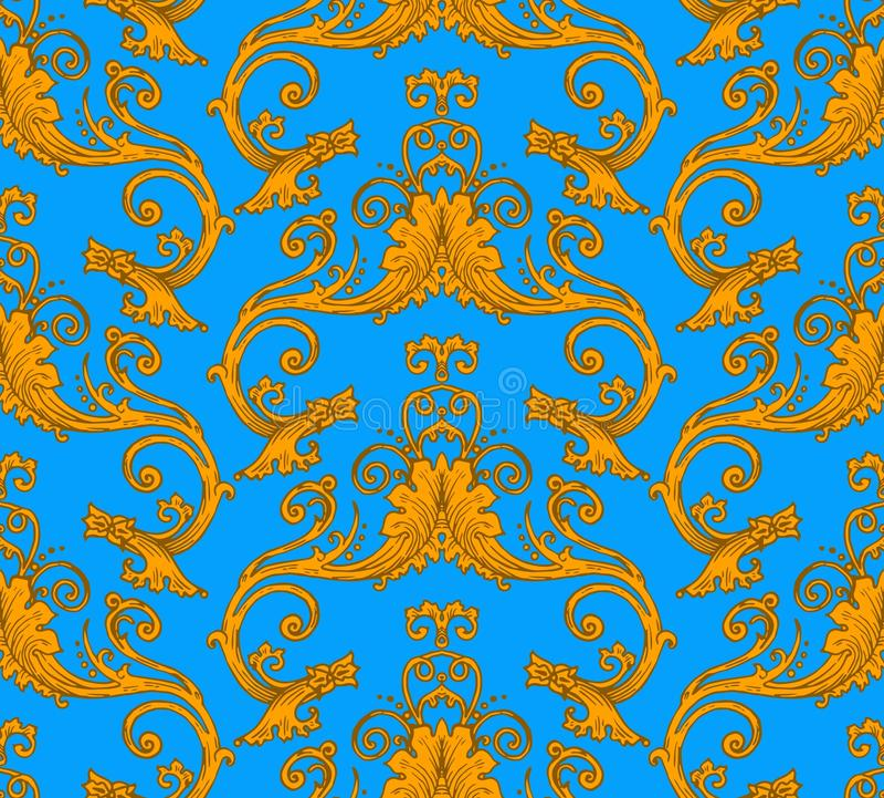 Nahtloses Muster des antiken Victorian vektor abbildung