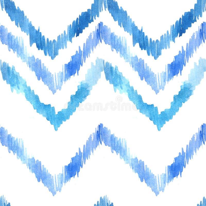 Nahtloses Muster des Aquarells mit ethnischen Motiven stock abbildung