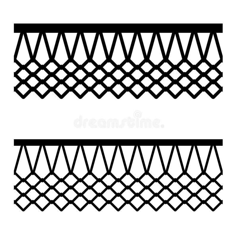 Nahtloses Muster des Basketballkorb-Netzes stock abbildung