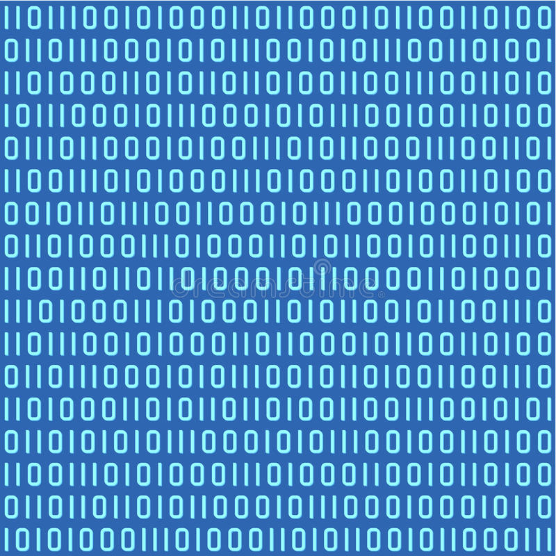 Nahtloses Muster des binären Codes lizenzfreie abbildung