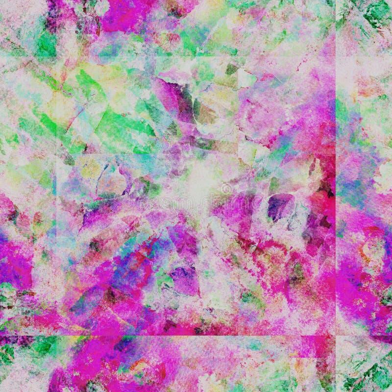 Nahtloses Muster des Bindungsfärbungs-Aquarells lizenzfreie abbildung