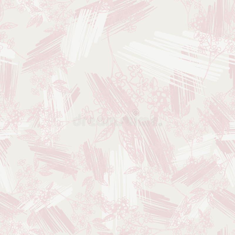 Nahtloses Muster des Blumenentwurfsfrühlinges Vector Zusammensetzung für romantische Hintergründe, tapezieren Sie, die Abdeckunge lizenzfreie abbildung