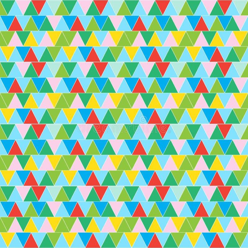 Nahtloses Muster des bunten Retro- Hippie-Dreiecks lizenzfreie abbildung