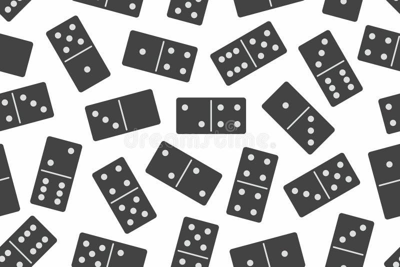 Nahtloses Muster des Dominovektors vektor abbildung