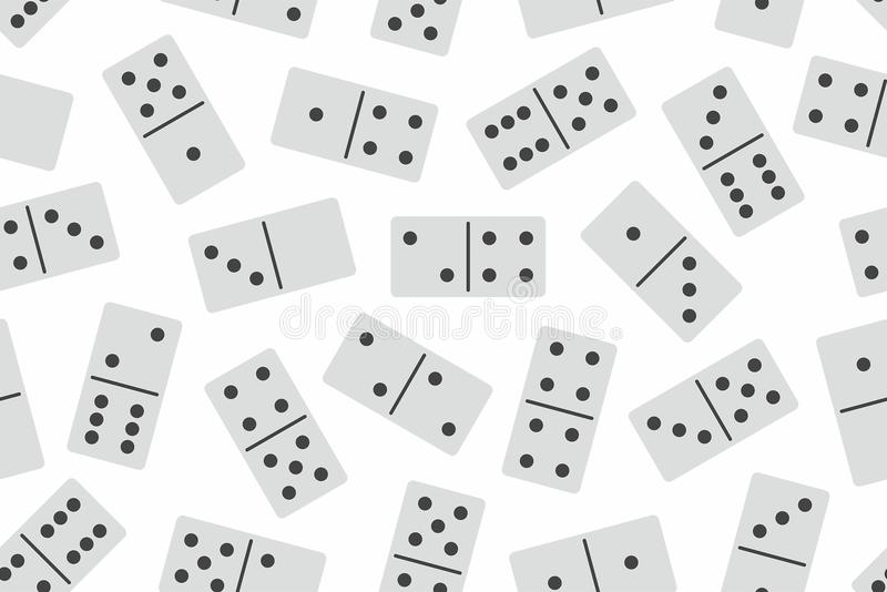 Nahtloses Muster des Dominovektors lizenzfreie abbildung