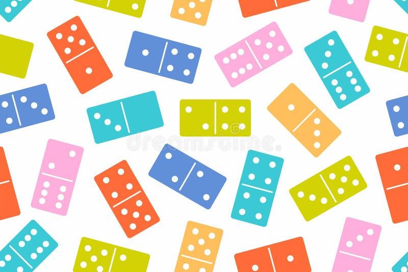 Nahtloses Muster des Dominovektors stock abbildung