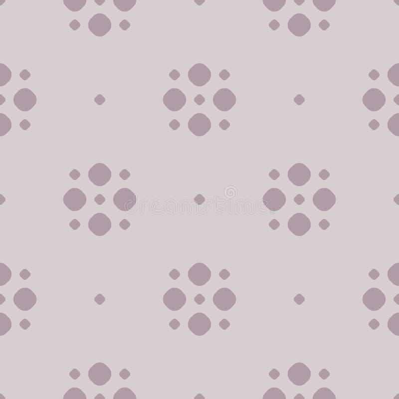 Nahtloses Muster des einfachen Vektortupfens in der Pastellfarbe, blasses Purpur vektor abbildung