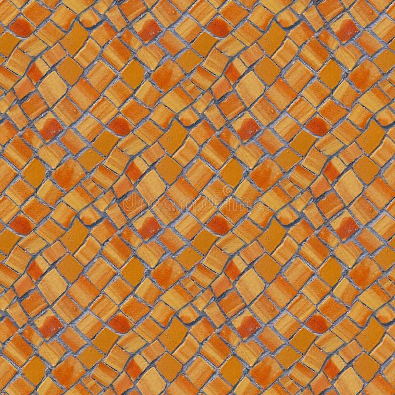 Nahtloses Muster des Fotos mit Fragment der Wand mit defektem keramischem lizenzfreie stockbilder