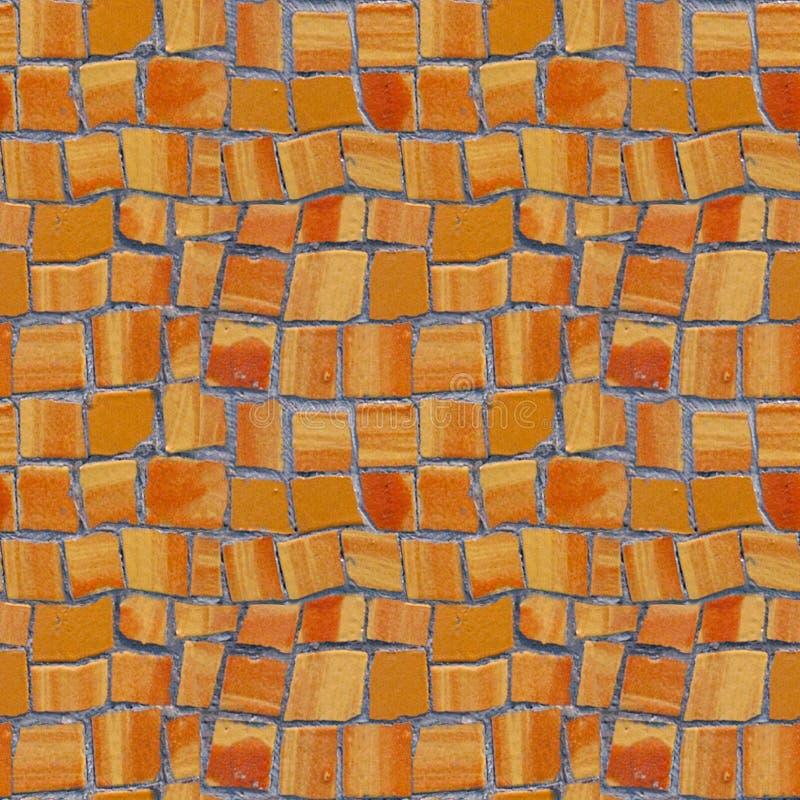 Nahtloses Muster des Fotos mit Fragment der Wand mit defektem keramischem lizenzfreie stockfotografie