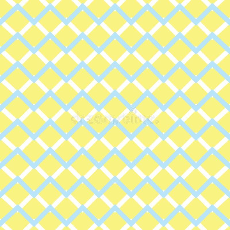 Nahtloses Muster des gelben Sparrens stock abbildung