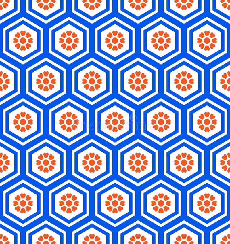 Nahtloses Muster des geometrischen Hexagons lizenzfreie abbildung
