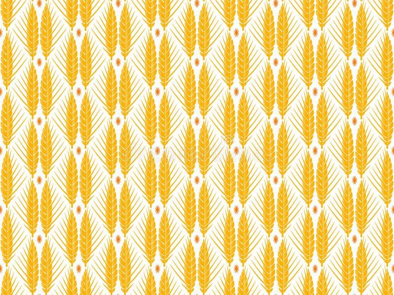 Nahtloses Muster des Getreideohr-Vektors stockbild