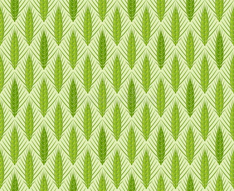 Nahtloses Muster des Getreideohr-Vektors lizenzfreie stockfotos