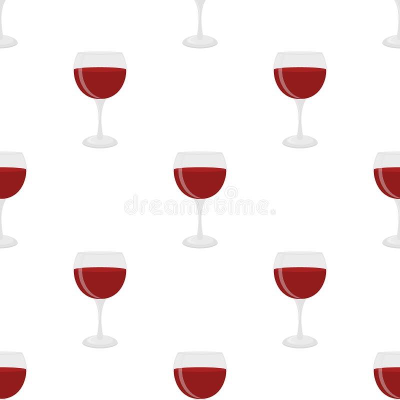 Nahtloses Muster des Glases für Wein, Merlot, Cabernet, Sangria vektor abbildung