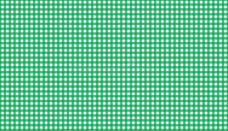 Nahtloses Muster des grünen Ginghams Beschaffenheit von der Raute/von den Quadraten für lizenzfreie stockbilder