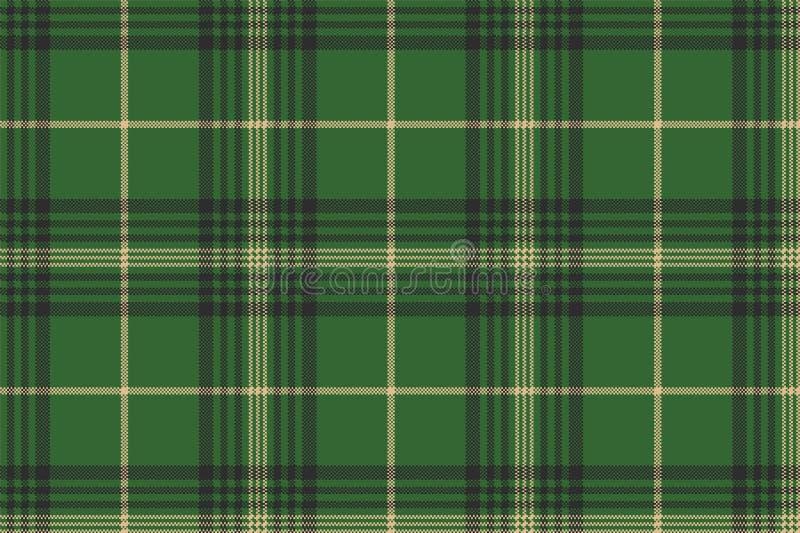 Nahtloses Muster des grünen Kontrollplaid-Schottenstoffs lizenzfreie abbildung