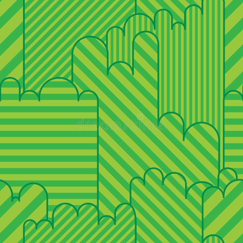 Nahtloses Muster des grünen Landspiels lizenzfreie abbildung