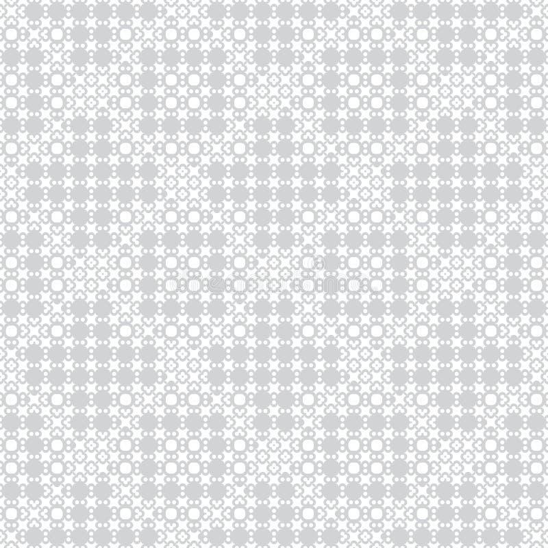 Nahtloses Muster des grauen Weiß lizenzfreie abbildung