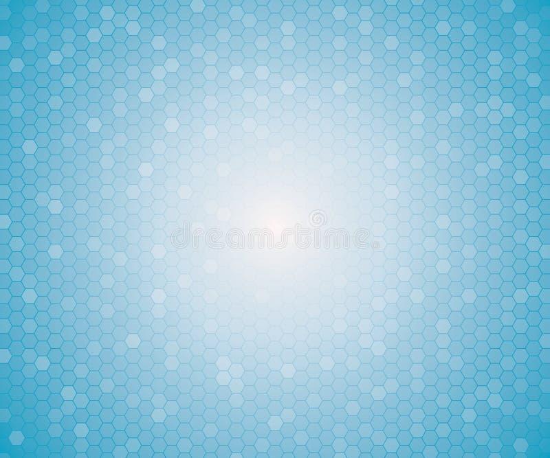 Nahtloses Muster des hellblauen Farbgeometrischen Hexagons stock abbildung