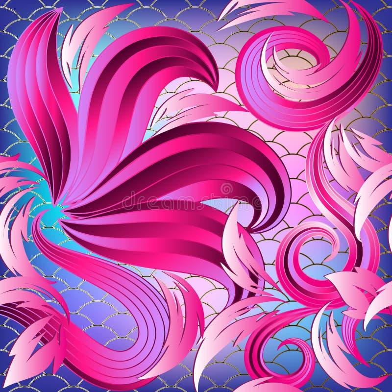 Nahtloses Muster des hellen bunten Blumen-Vektors 3d lizenzfreie abbildung