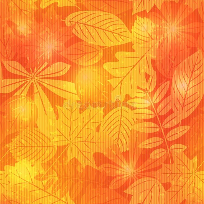 Nahtloses Muster des hellen Herbstes stock abbildung