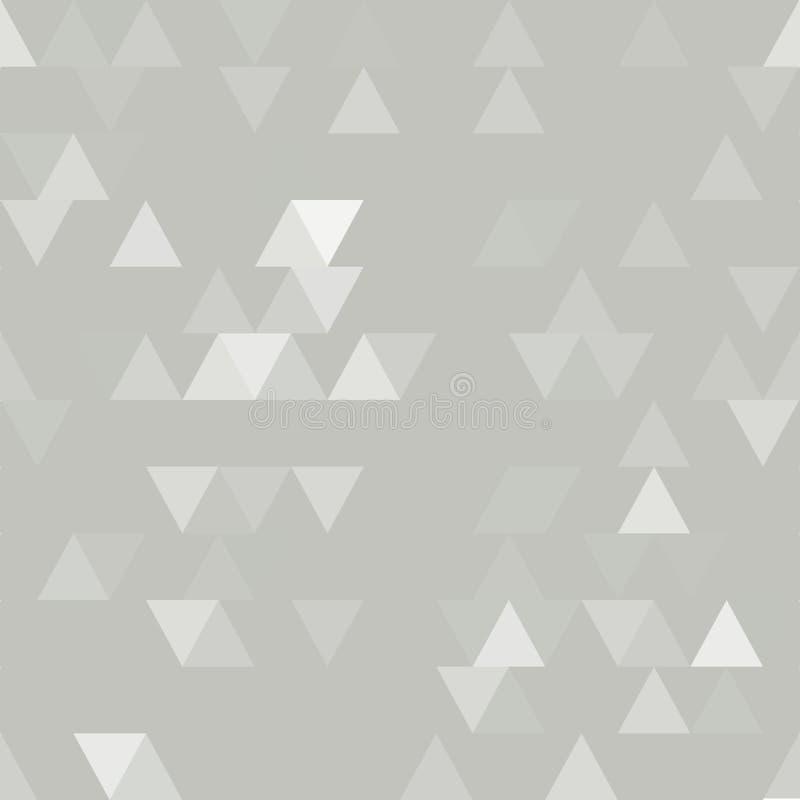 Nahtloses Muster des hellgrauen Vektors mit Dreiecken stock abbildung