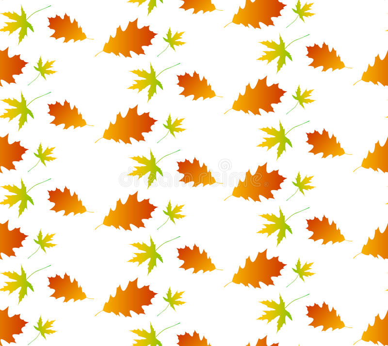 Nahtloses Muster des Herbstblattes stock abbildung