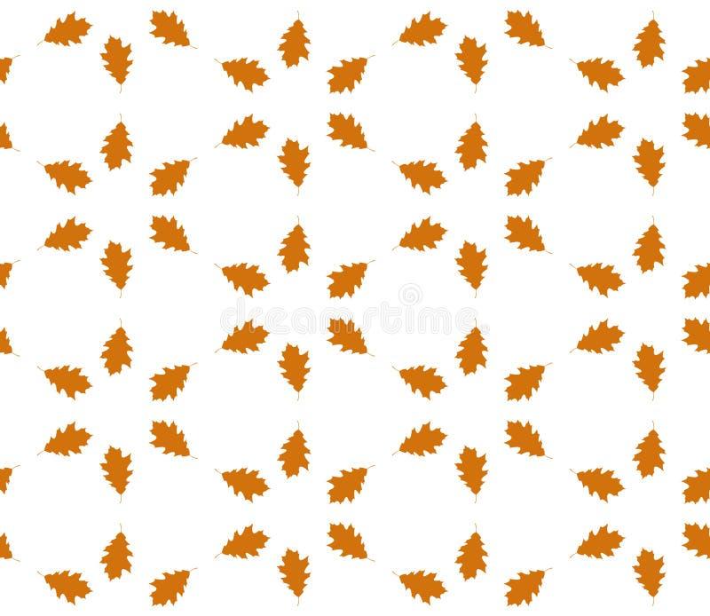 Nahtloses Muster des Herbstblattes vektor abbildung