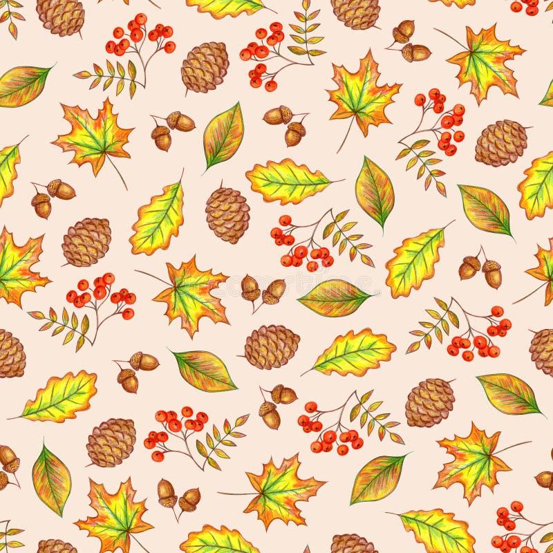 Nahtloses Muster des Herbstes lizenzfreie abbildung