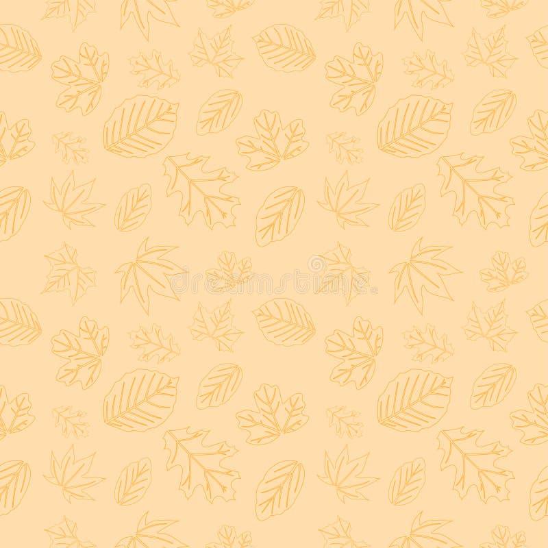 Nahtloses Muster 05 des Herbstlaubs lizenzfreie abbildung