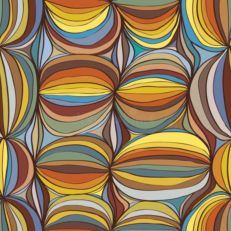 Nahtloses Muster des japanischen Balls lizenzfreie abbildung