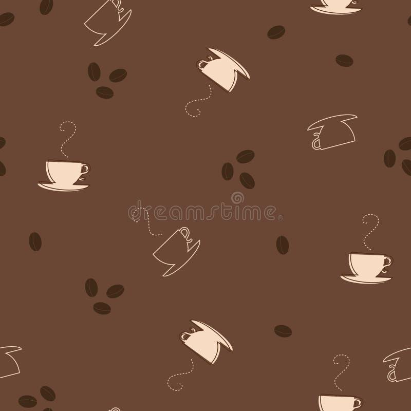 Nahtloses Muster des Kaffees vektor abbildung