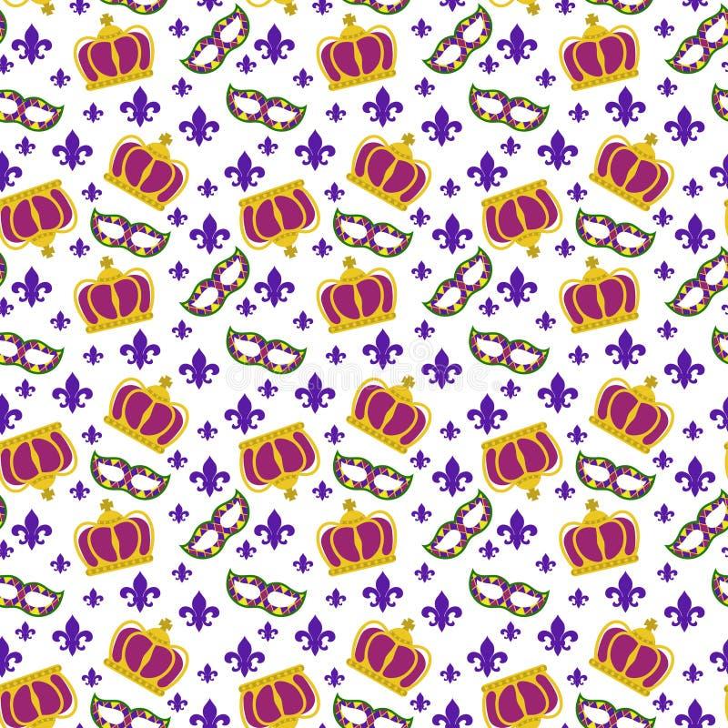 Nahtloses Muster des Karneval stock abbildung