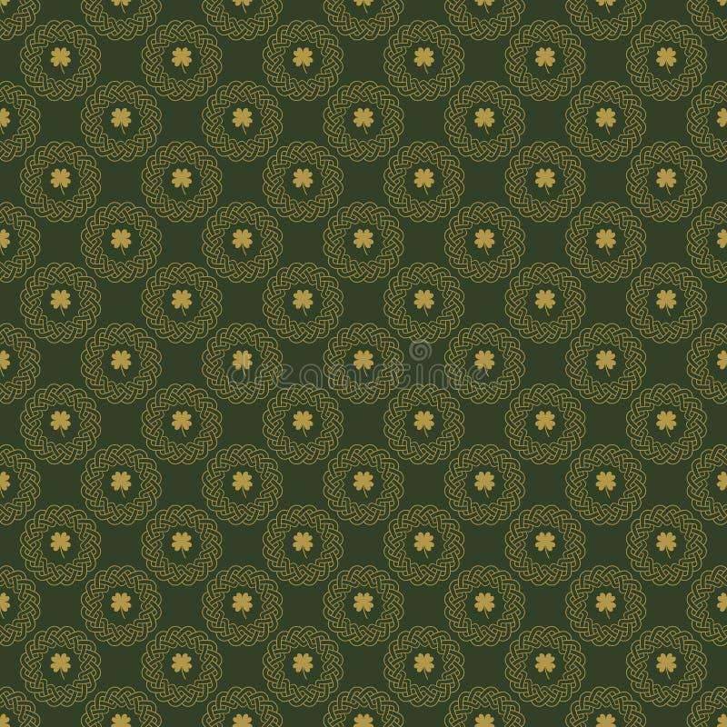 Nahtloses Muster des keltischen Knotens lizenzfreie abbildung